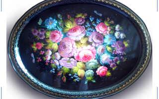 Цветочный букет на холодном металле: история жостовской росписи