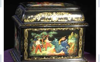 Произведение искусства из папье-маше или удивительные факты о Палехской миниатюре